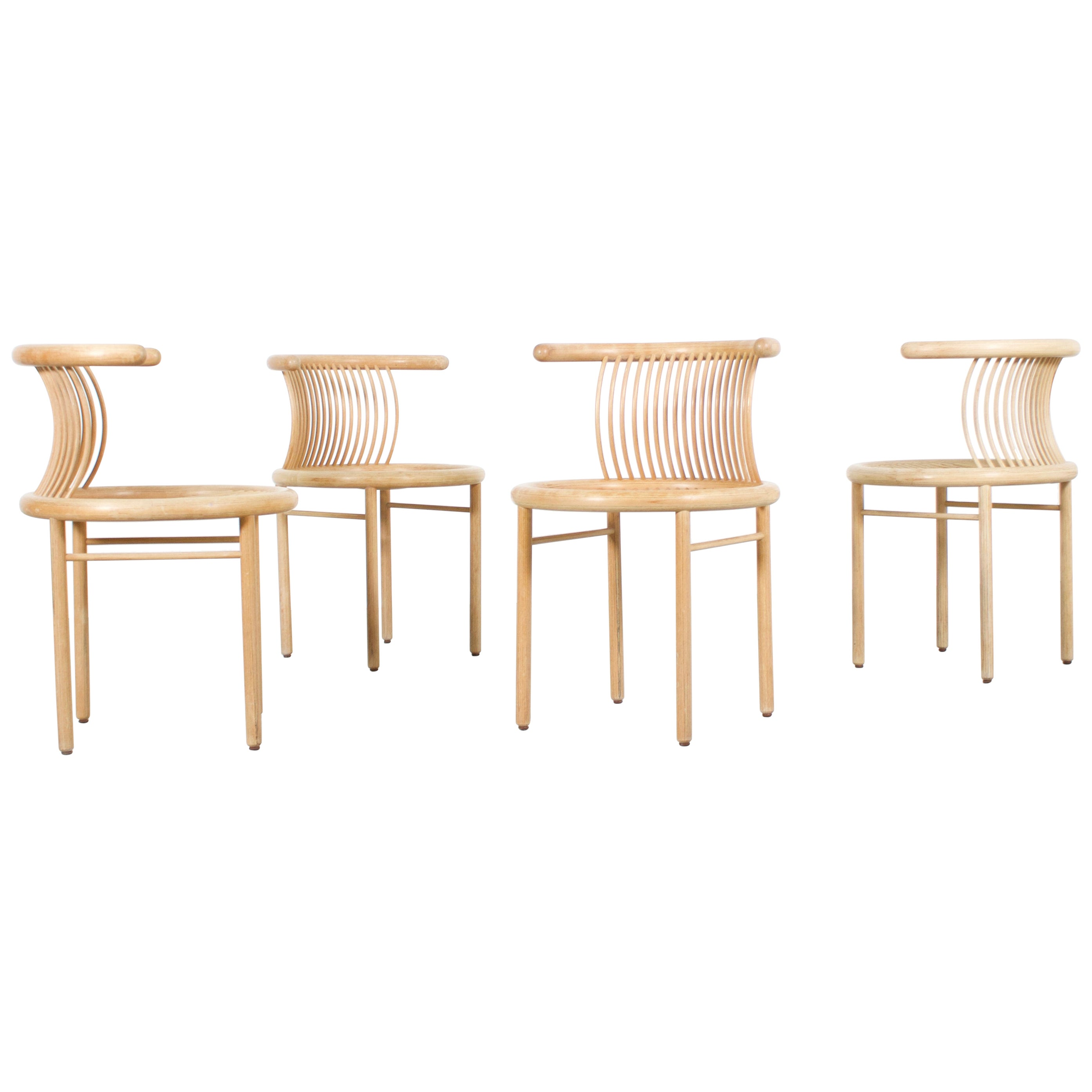 Set Of Four Sculptural Circo Dining Chairs By Herbert Ohl For Sale At 1stdibs