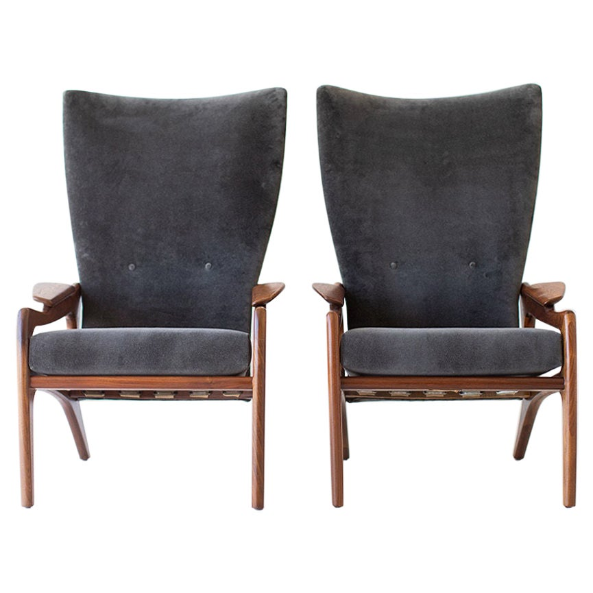 Adrian Pearsall High Back Lounge Chairs for Craft Associates Inc.