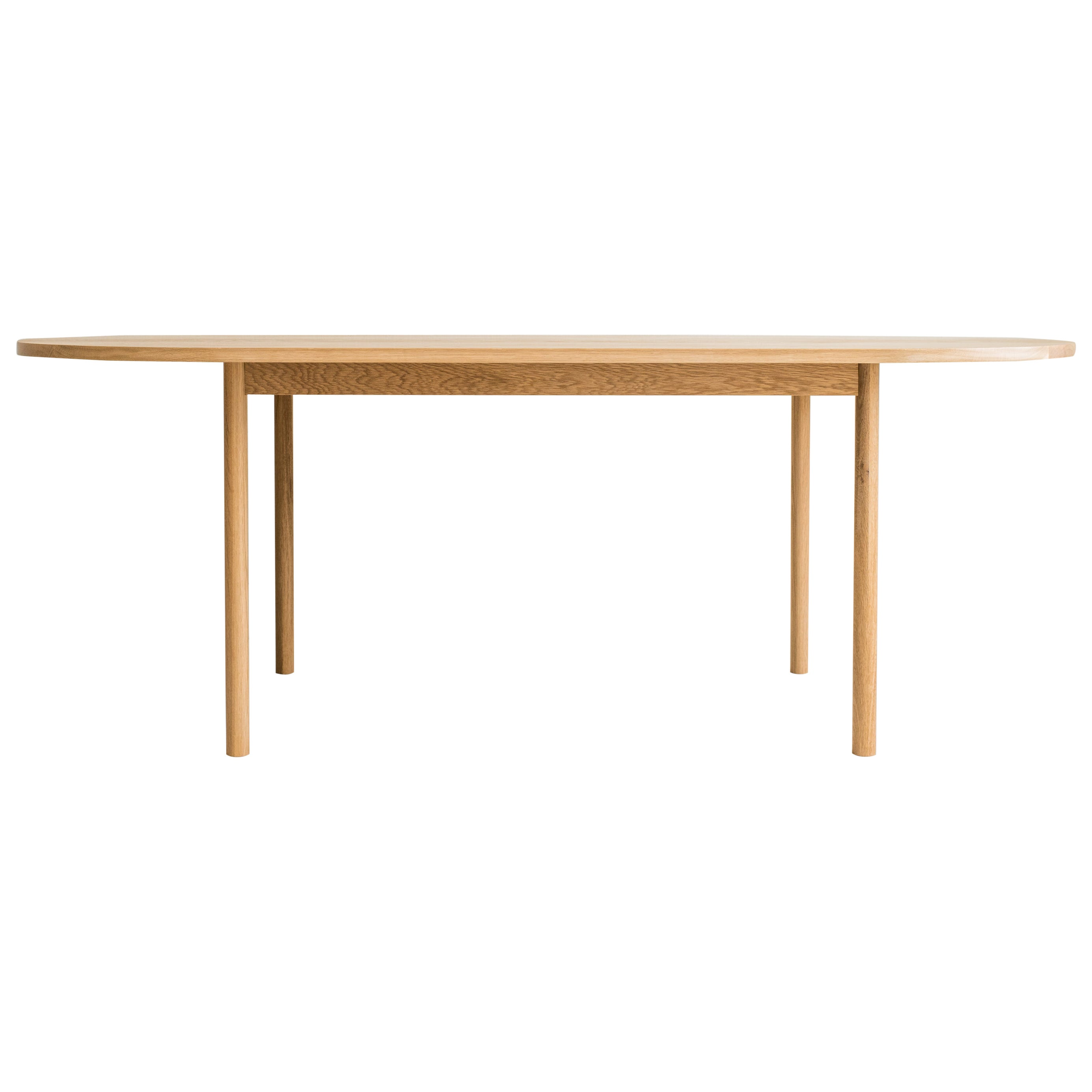 Dining Table One by Campagna, Contemporary Minimal Pill Shaped Wooden Table