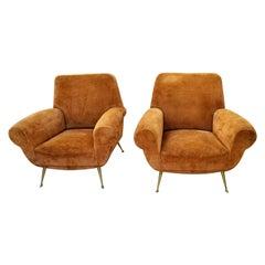 Italian Pair of Gigi Radiche Chairs