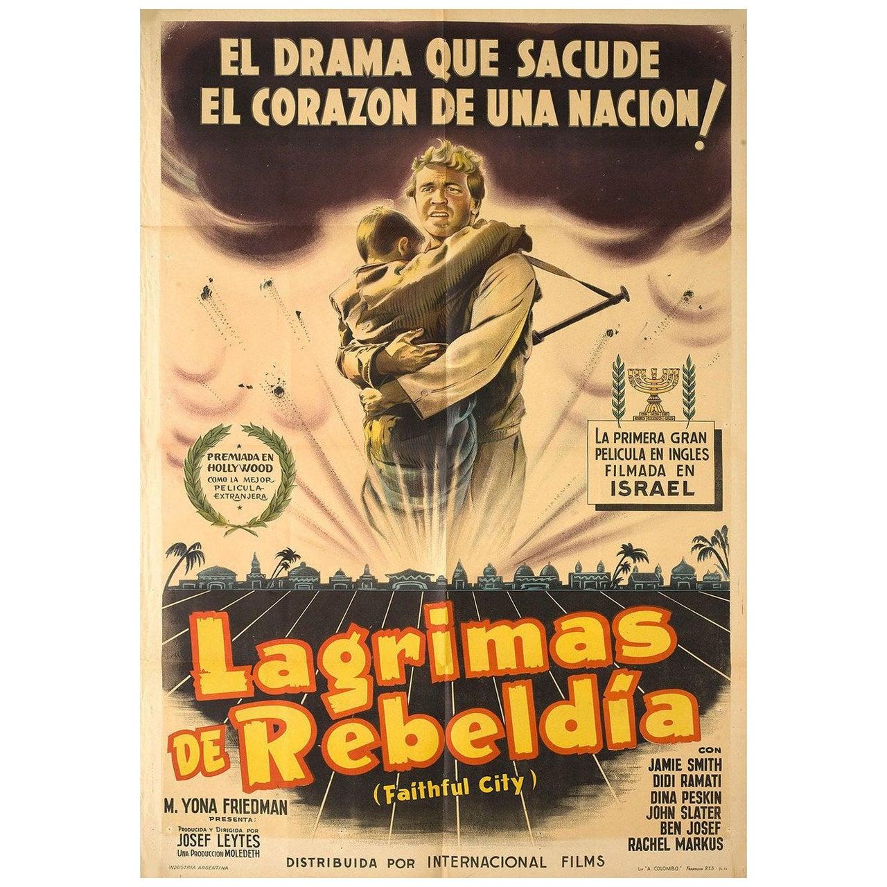 The Faithful City 1952 Argentine Film Poster