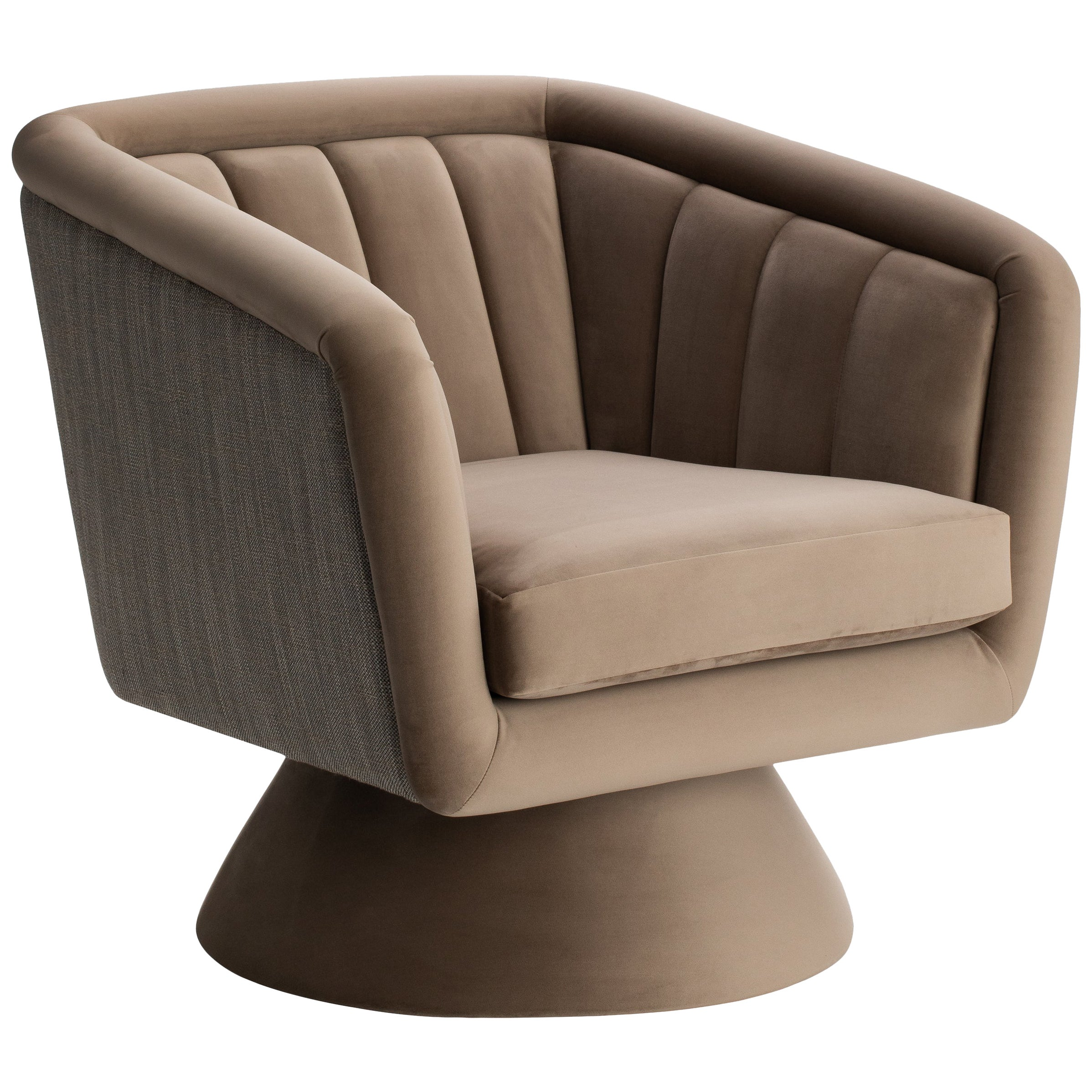 Caprice Swivel Armchair with two fabrics