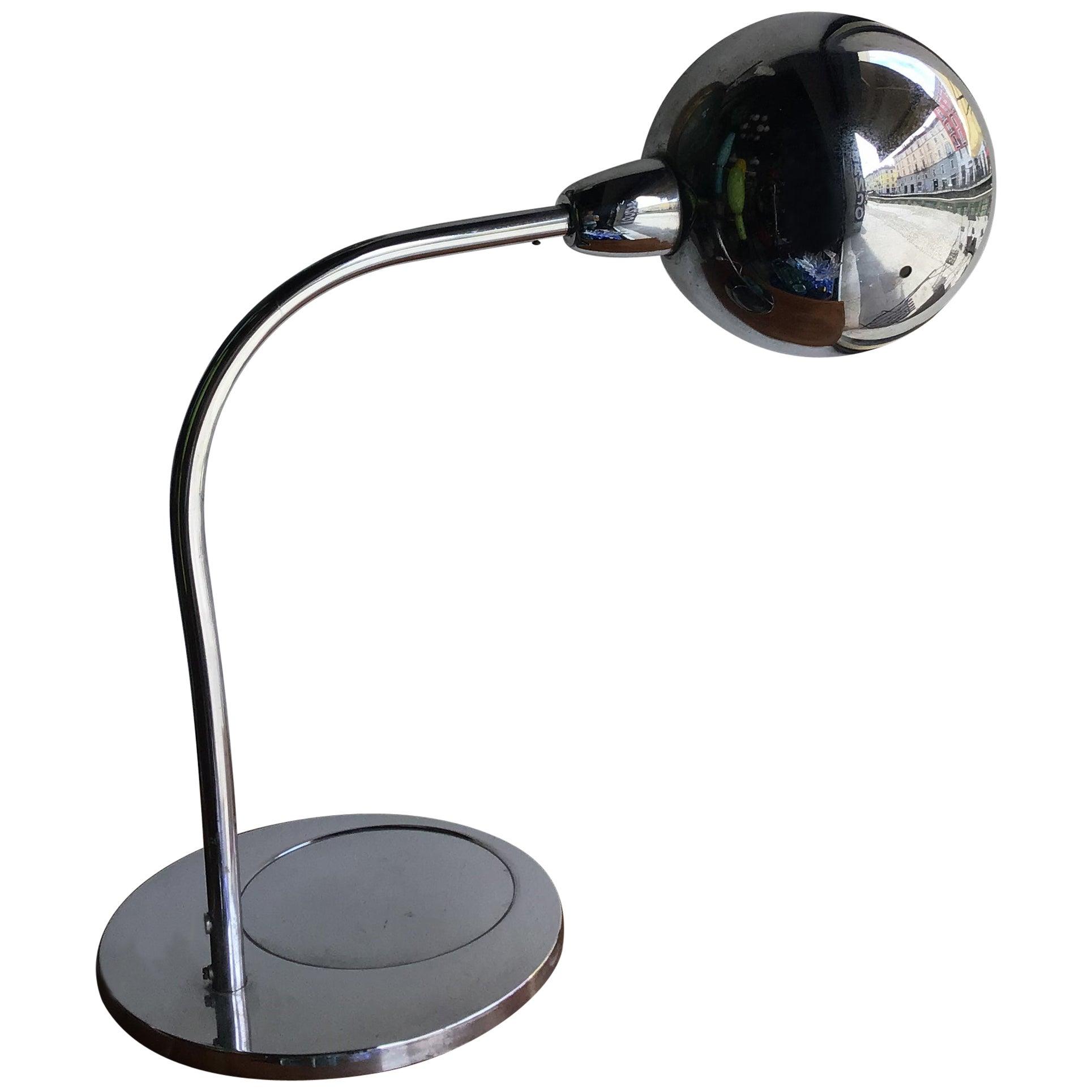 Sergio Asti Table Lamp Metal Crome, 1968, Italy