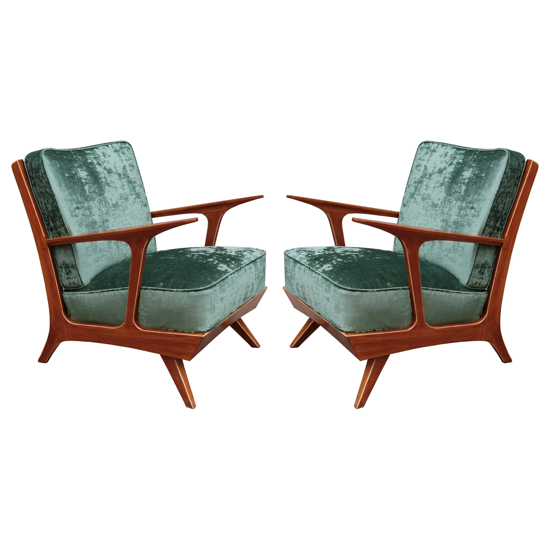 Pair of Modern Midcentury Armchairs