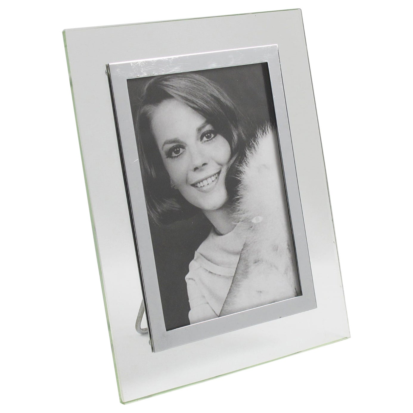 French Glass Chrome Picture Frame