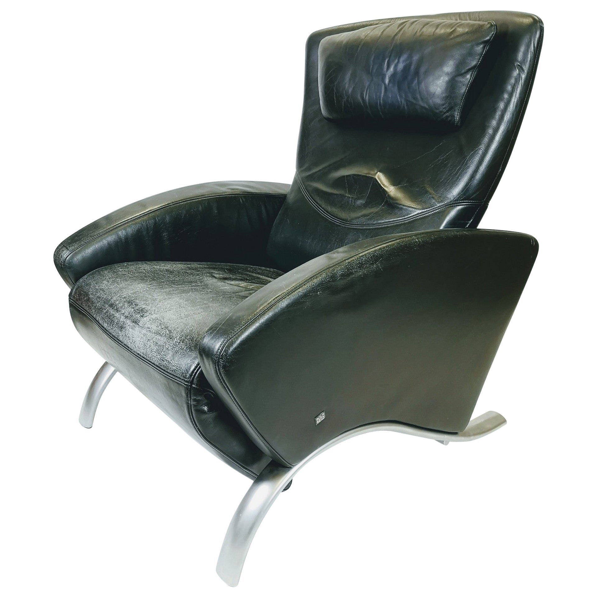 Lounge Leather Armchair by Rolf Benz