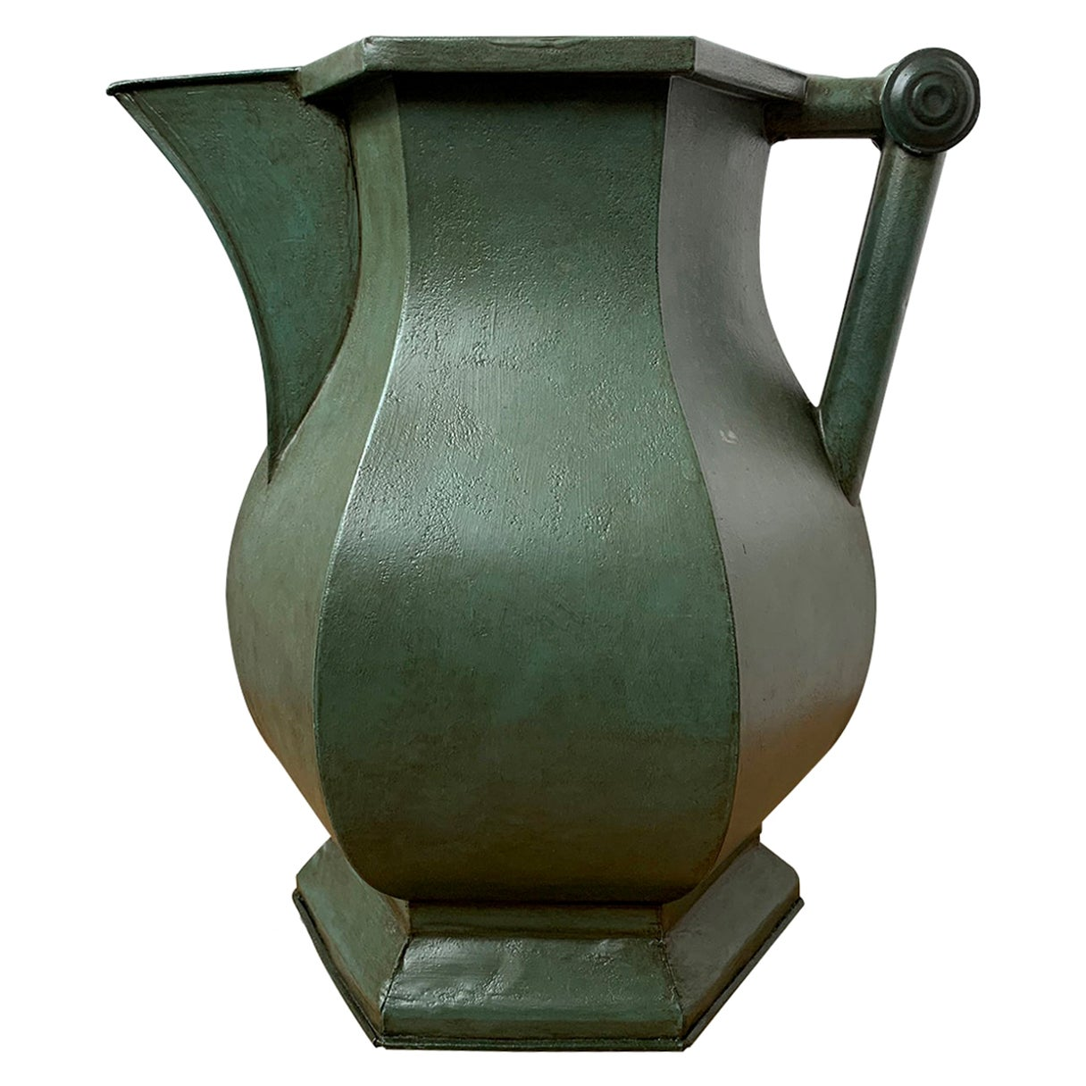 19th Century Hand Painted Tole Pitcher