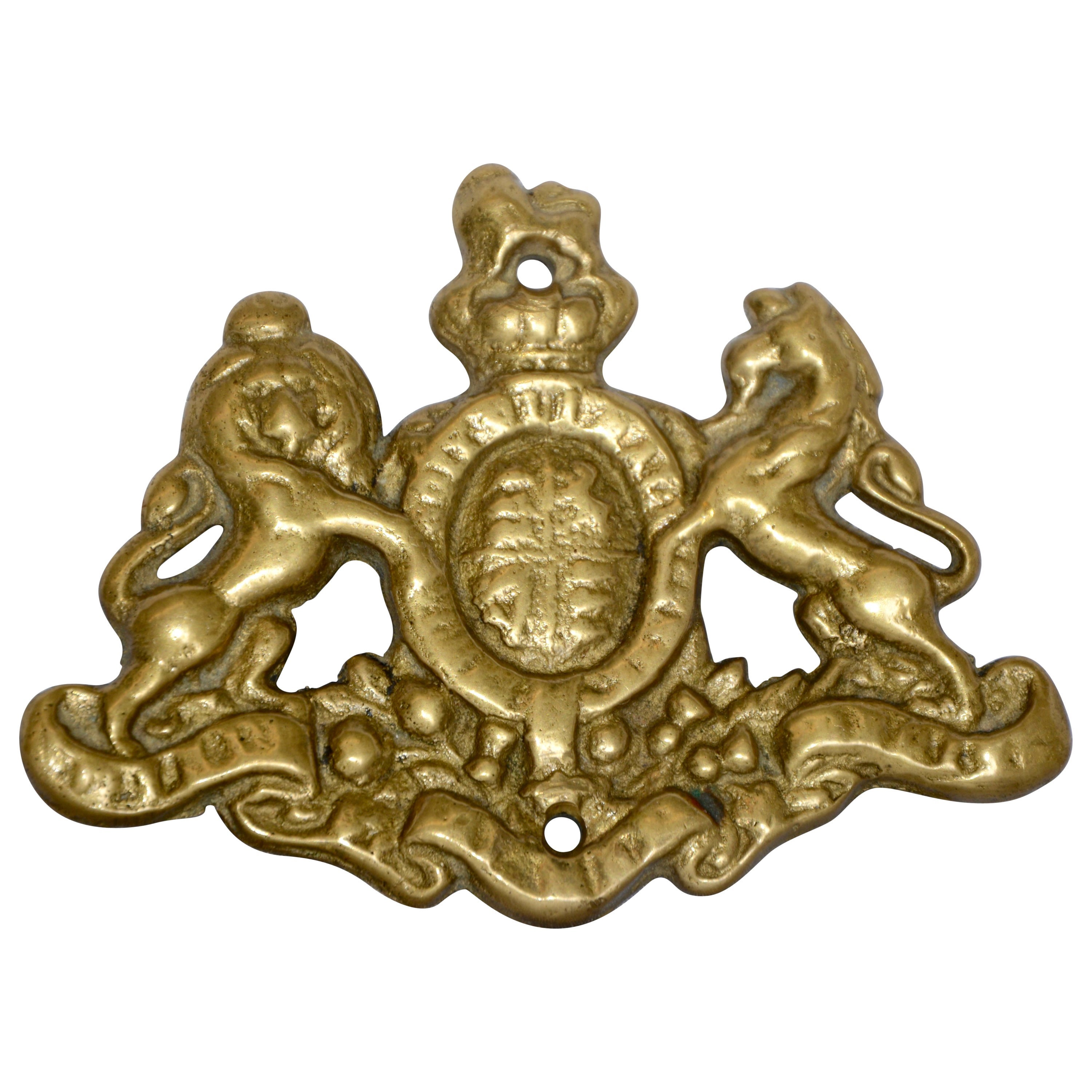Cast Brass Coat of Arms Wall Mount Plaque