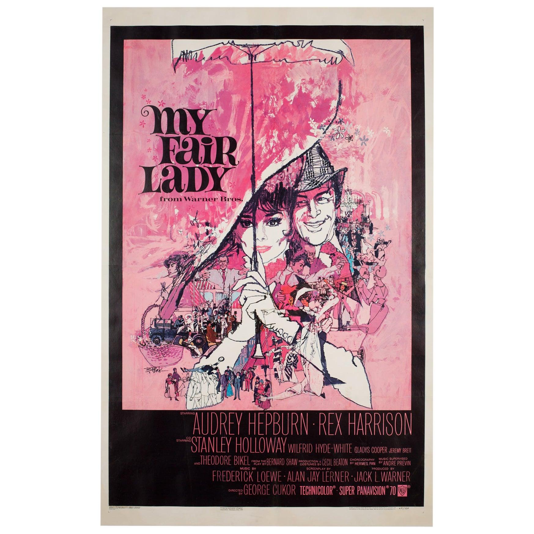 'My Fair Lady' 1964 US 1 Sheet Film Poster, Peak