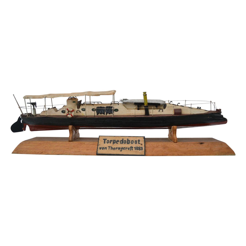 Model of Torpedo Boat 'Thornycroft' 1883