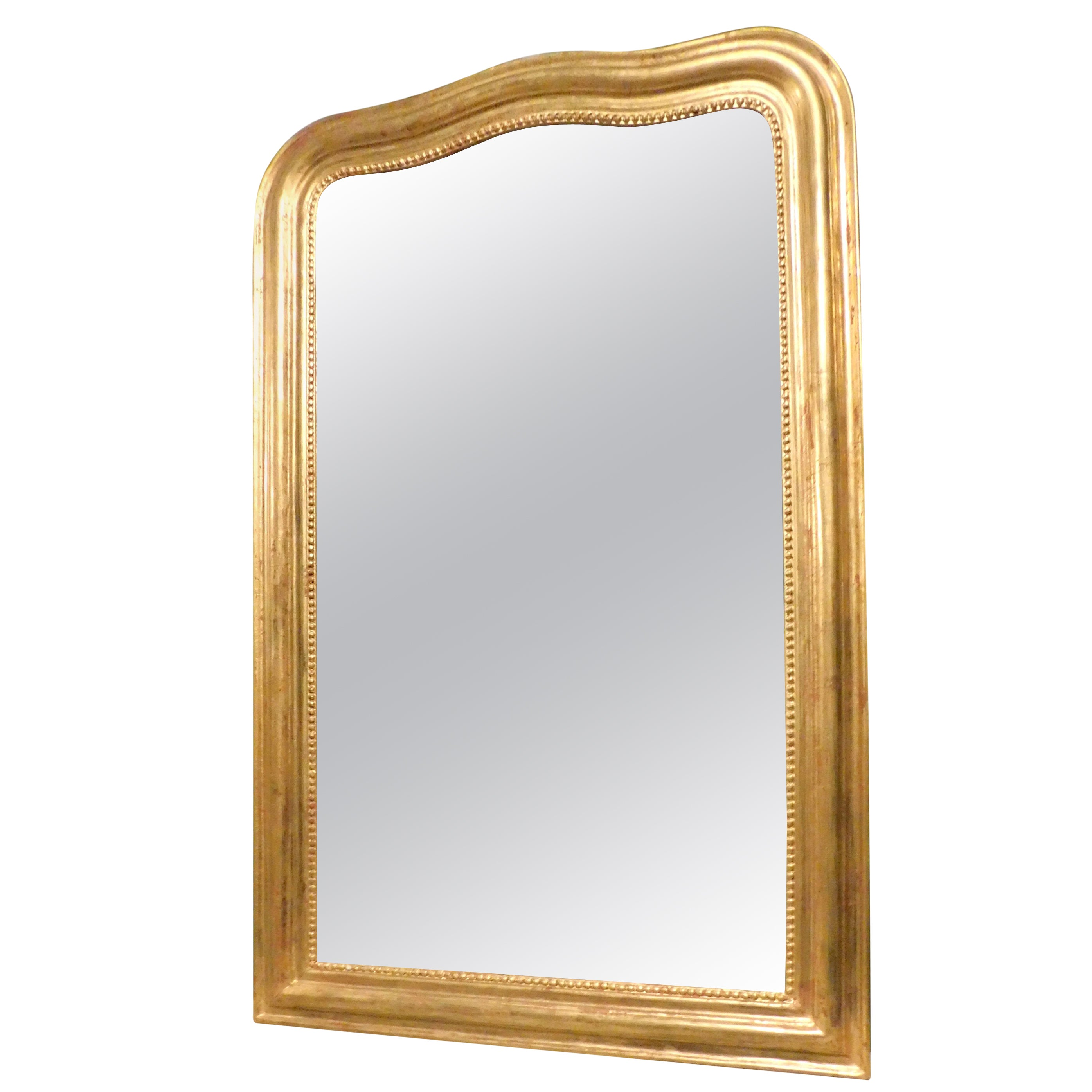 Antique Simple Gilded Mirror with Frame Moved, 1800, France