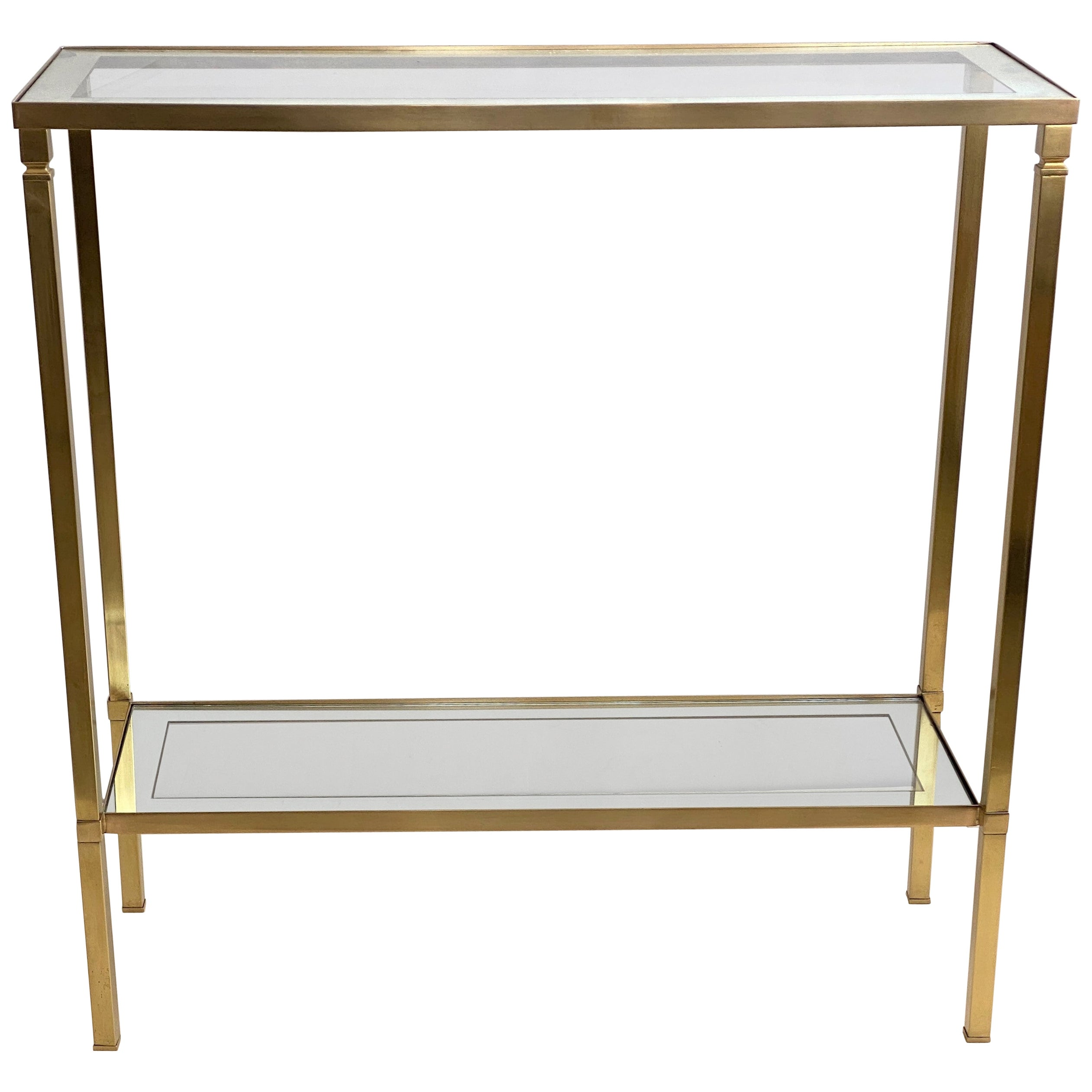 Mastercraft Style Brass Console Table