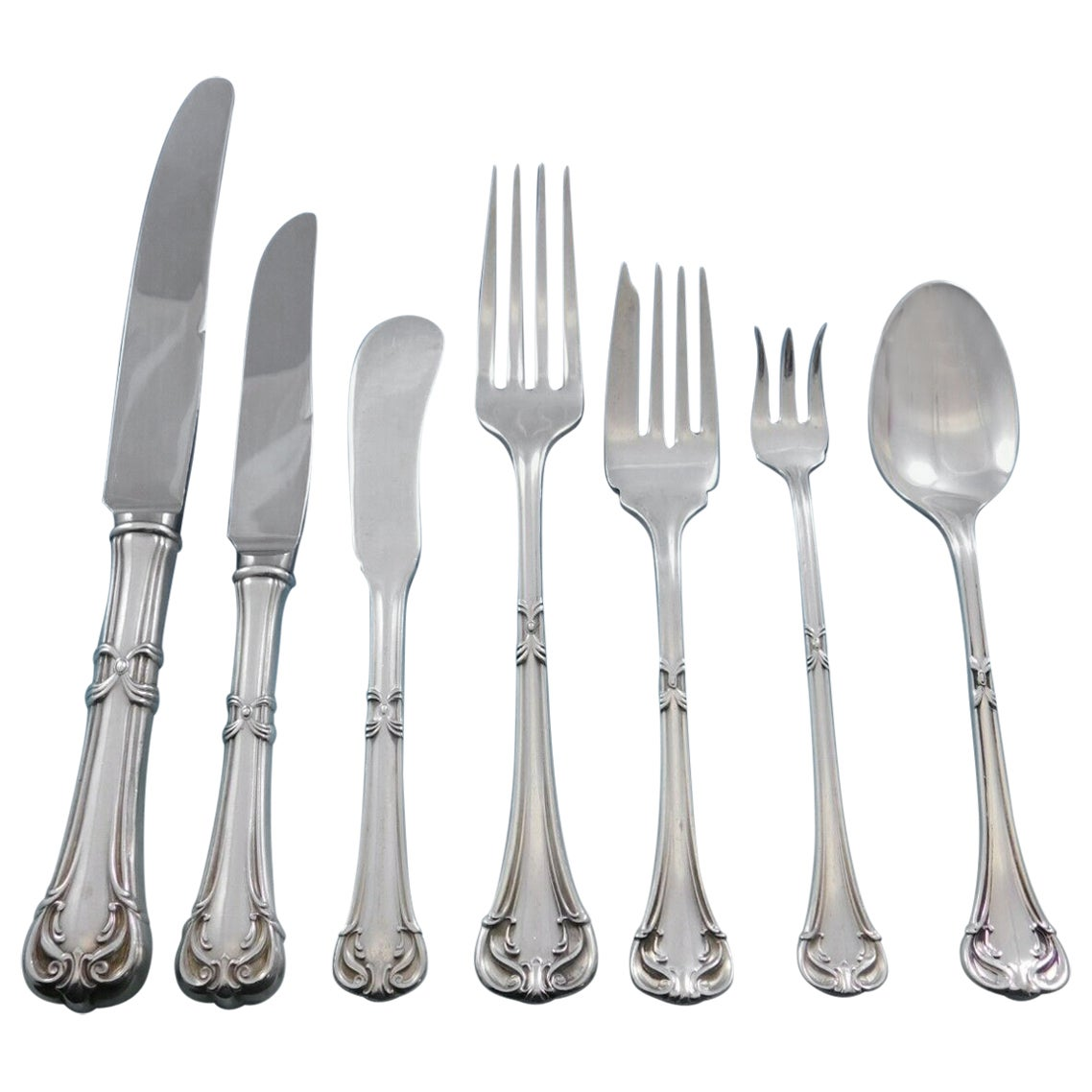 Nupical by Pesa Mexican Sterling Silver Flatware Set for 8 Service 56 Pieces