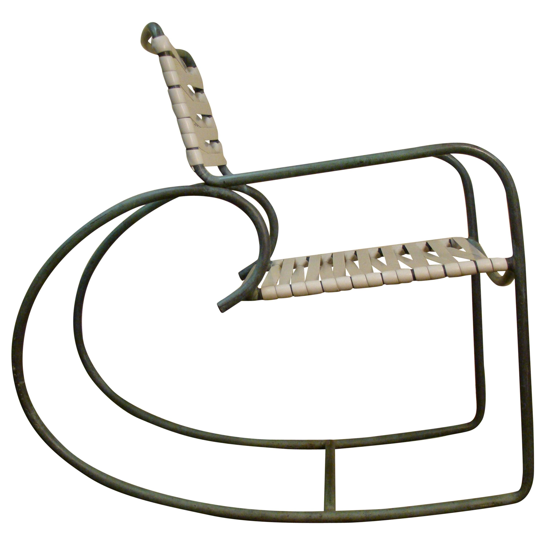 Rocking Chair by Walter Lamb for Brown Jordan in Bronze Tubing