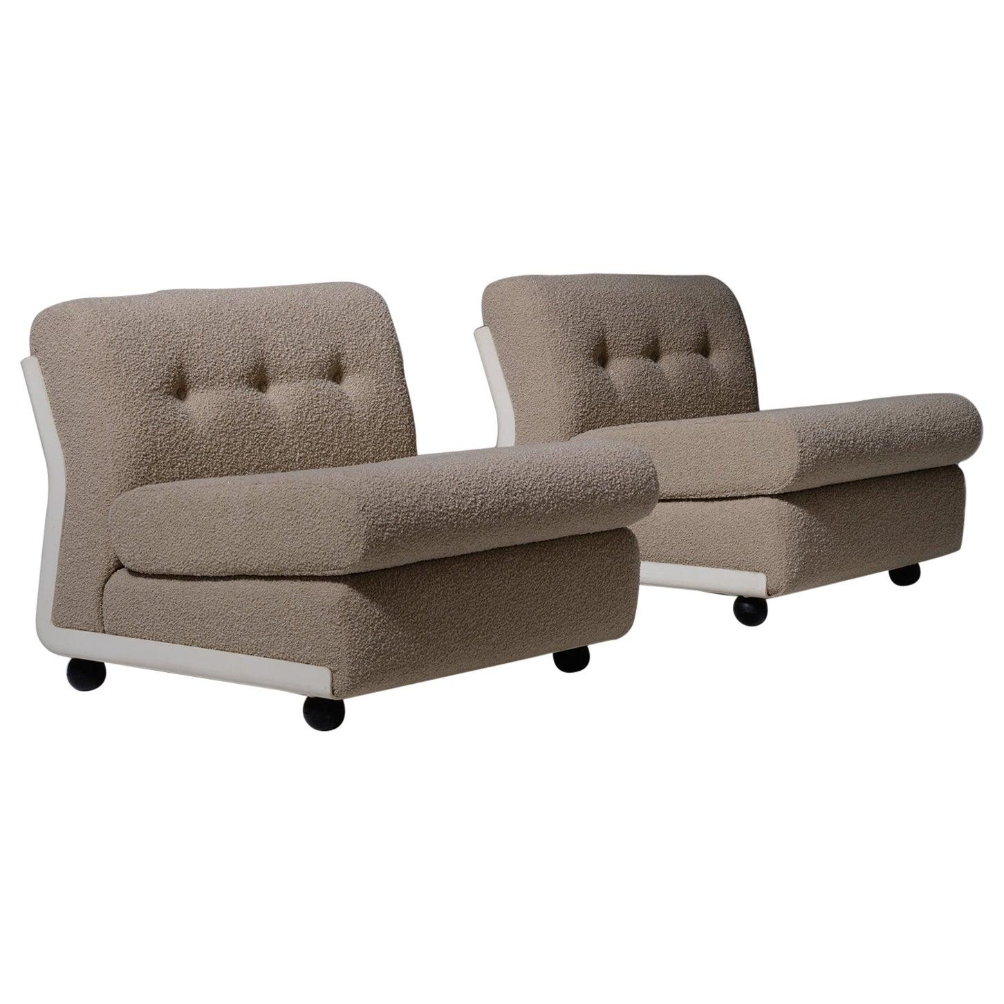 Set of Two Amanta Modular Sofa Elements by Mario Bellini for B&B Italia