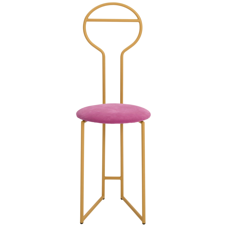 Joly Chairdrobe, High Back, Gold Structure, Malva Violet Fine Italian Velvet