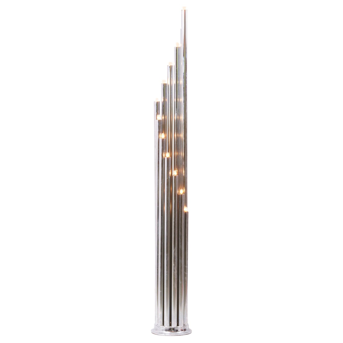 Space Age Chrome Floor Lamp by Reggiani, Italy 1970s