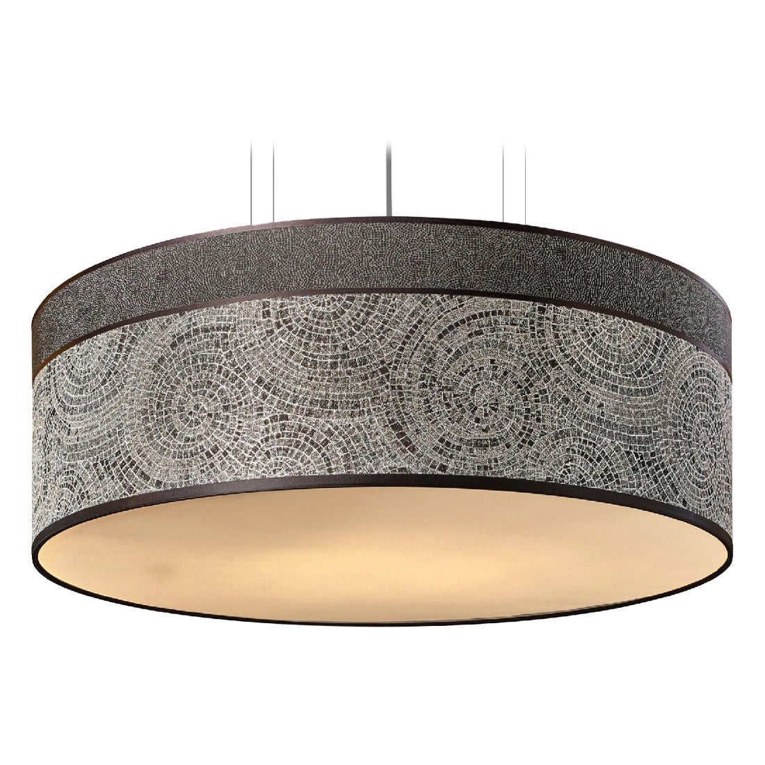 Stylish Ceiling Lamp Lampshade in Fabric Customizable