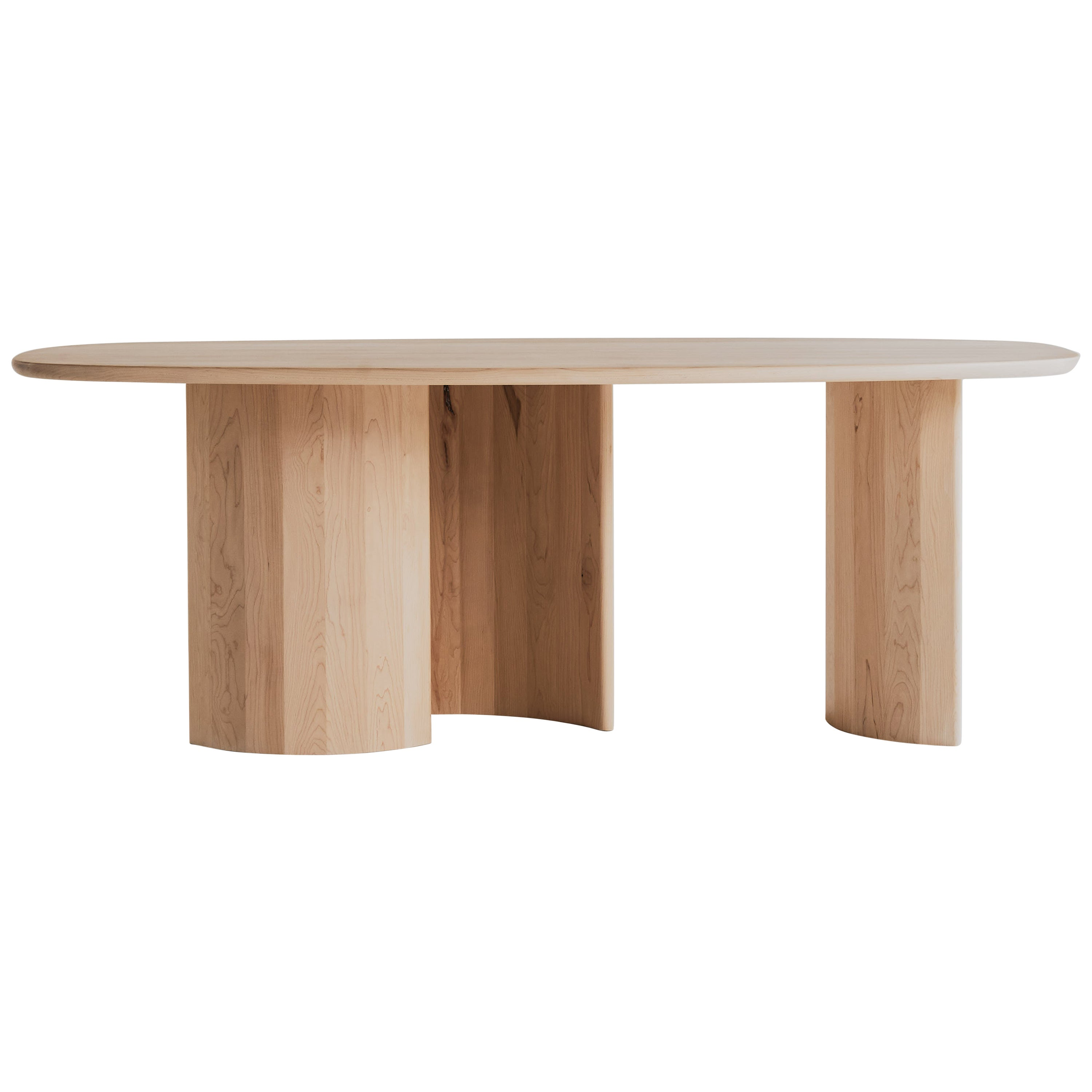 Contemporary Organic Sculptural Maple Wood Dining Table for Richard by Campagna