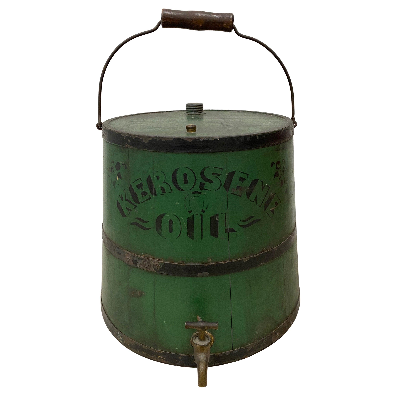 Early 20th Century Green Kerosene Can