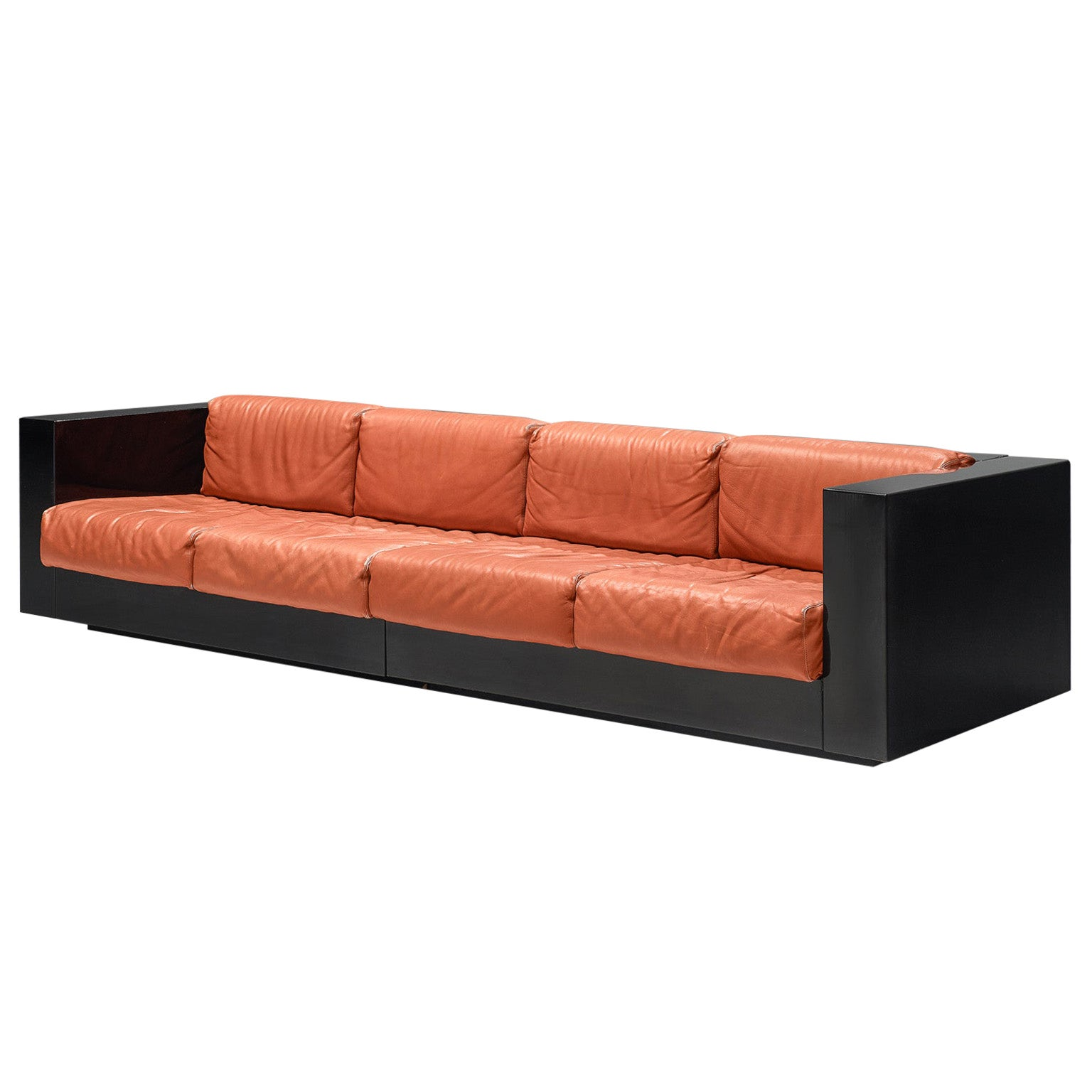 Vignelli Saratoga Large Sofa in Red Leather
