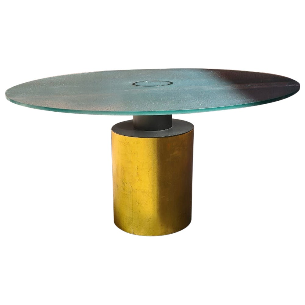 Italian Vintage Creso Round Table by Massimo & Lella Vignelli for Acerbis, 1980s