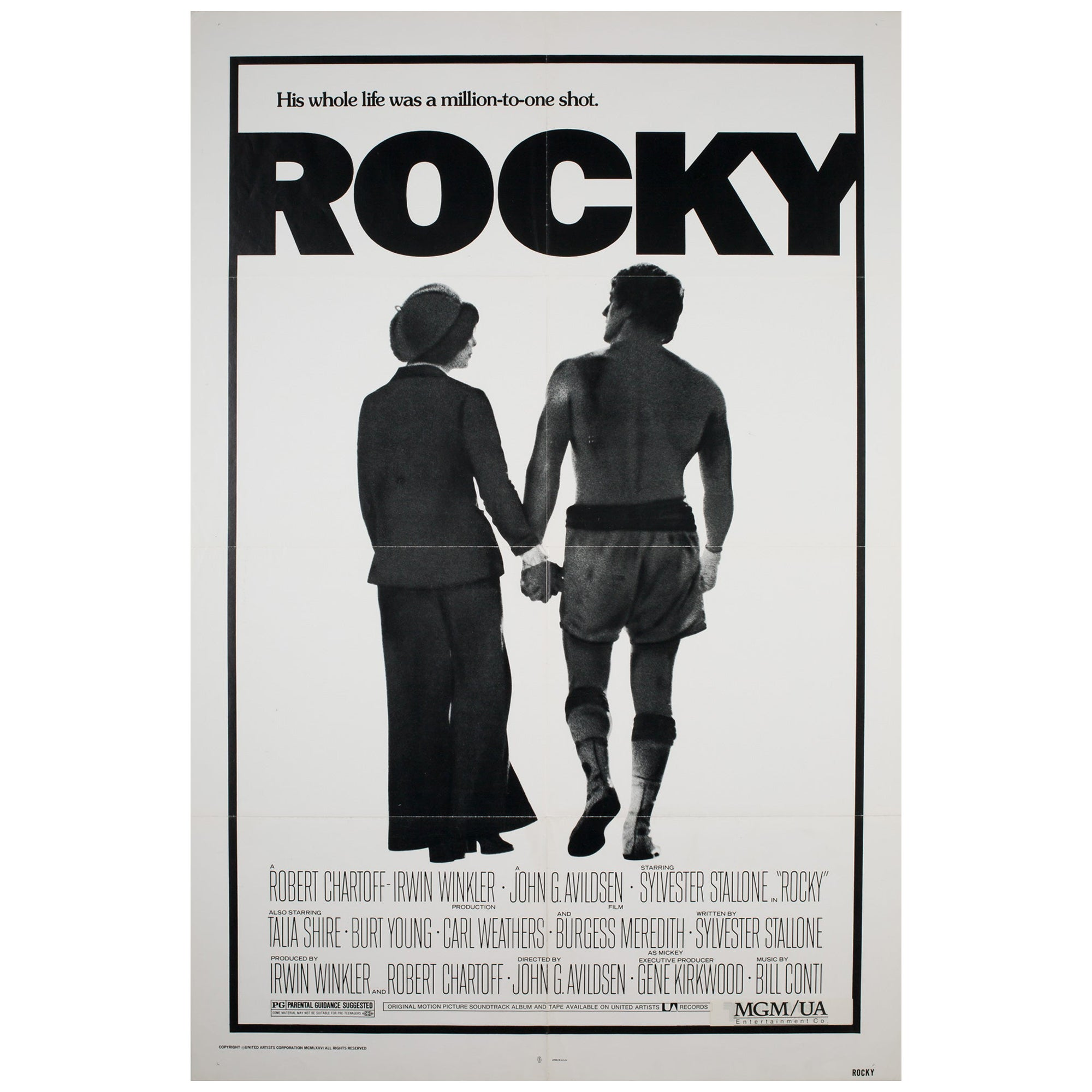 """Rocky"" 1976 US 1 Sheet Film Poster"