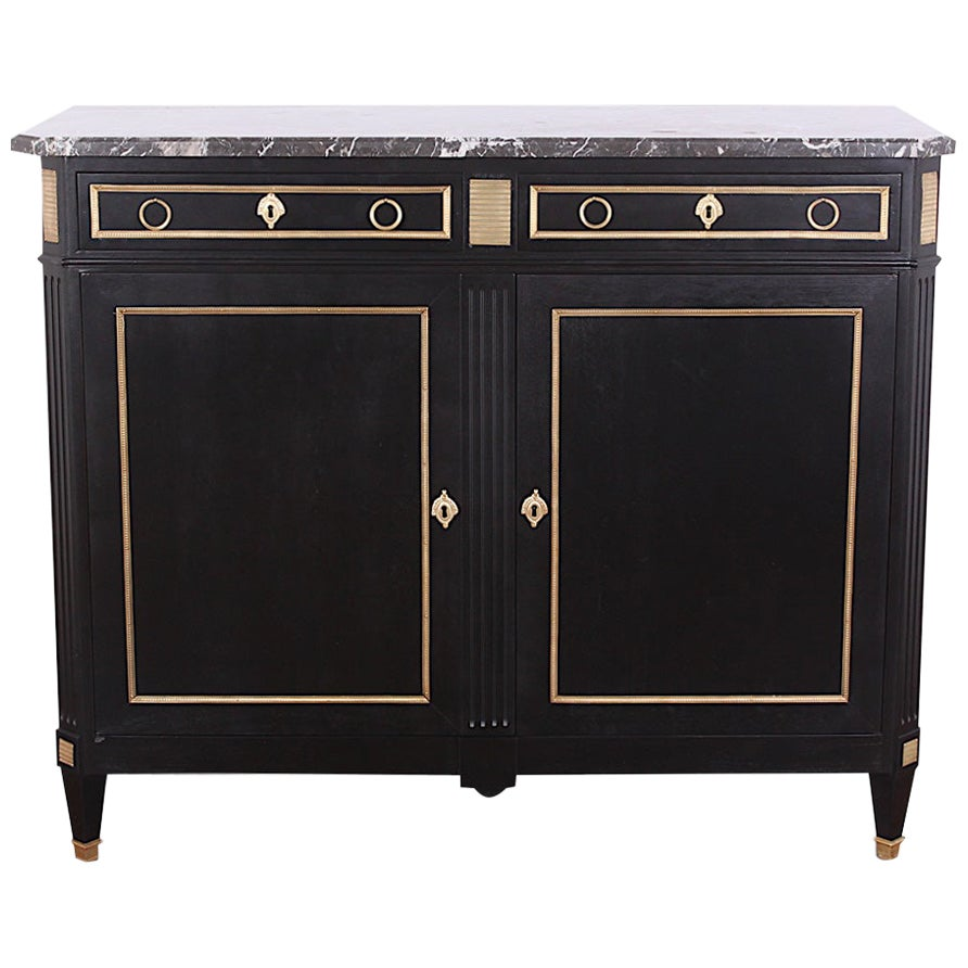 19th Century French Directoire Style Ebonized Buffet Sideboard