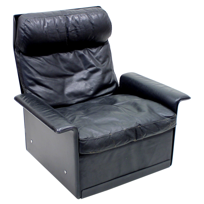Dieter Rams, Black Leather Lounge Chair Model 620, Vitsœ, 1970s