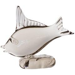 Clear Murano Blown Glass Fish