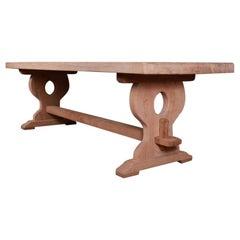 Antique French Oak Monastery Trestle Table