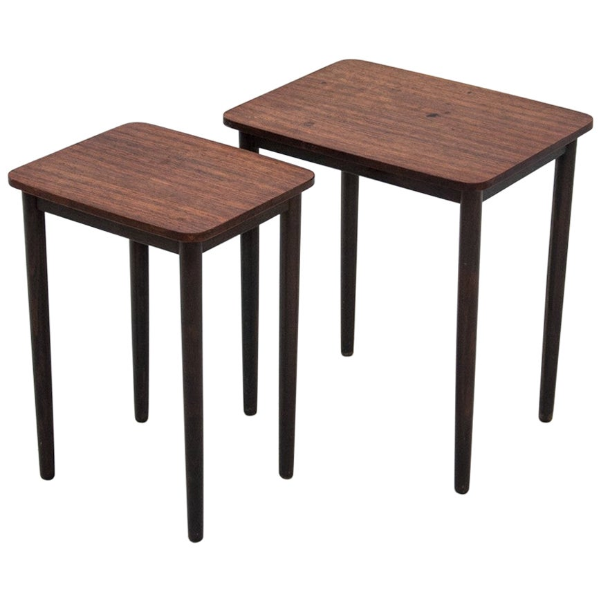 Danish Rosewood Nesting Tables, 1970s