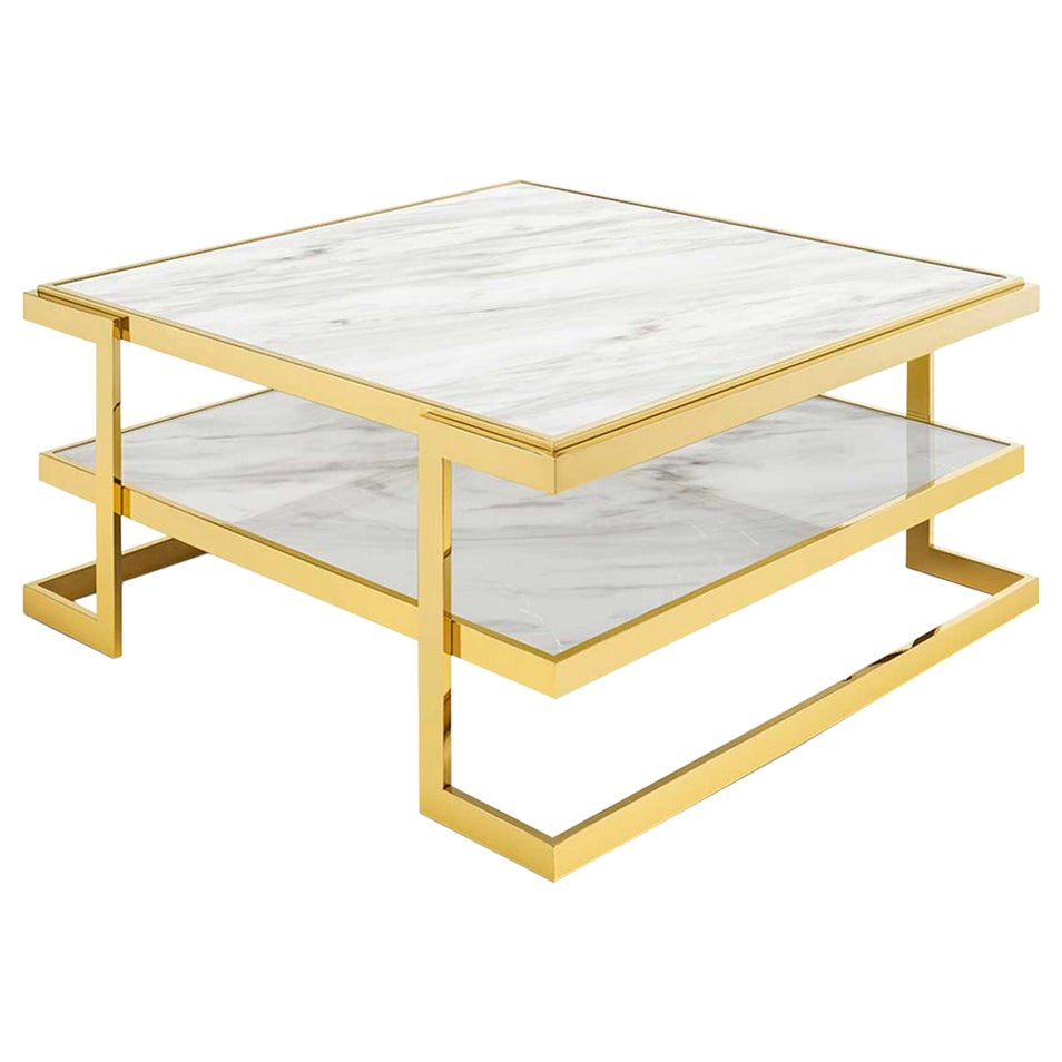 Liz White Coffee Table