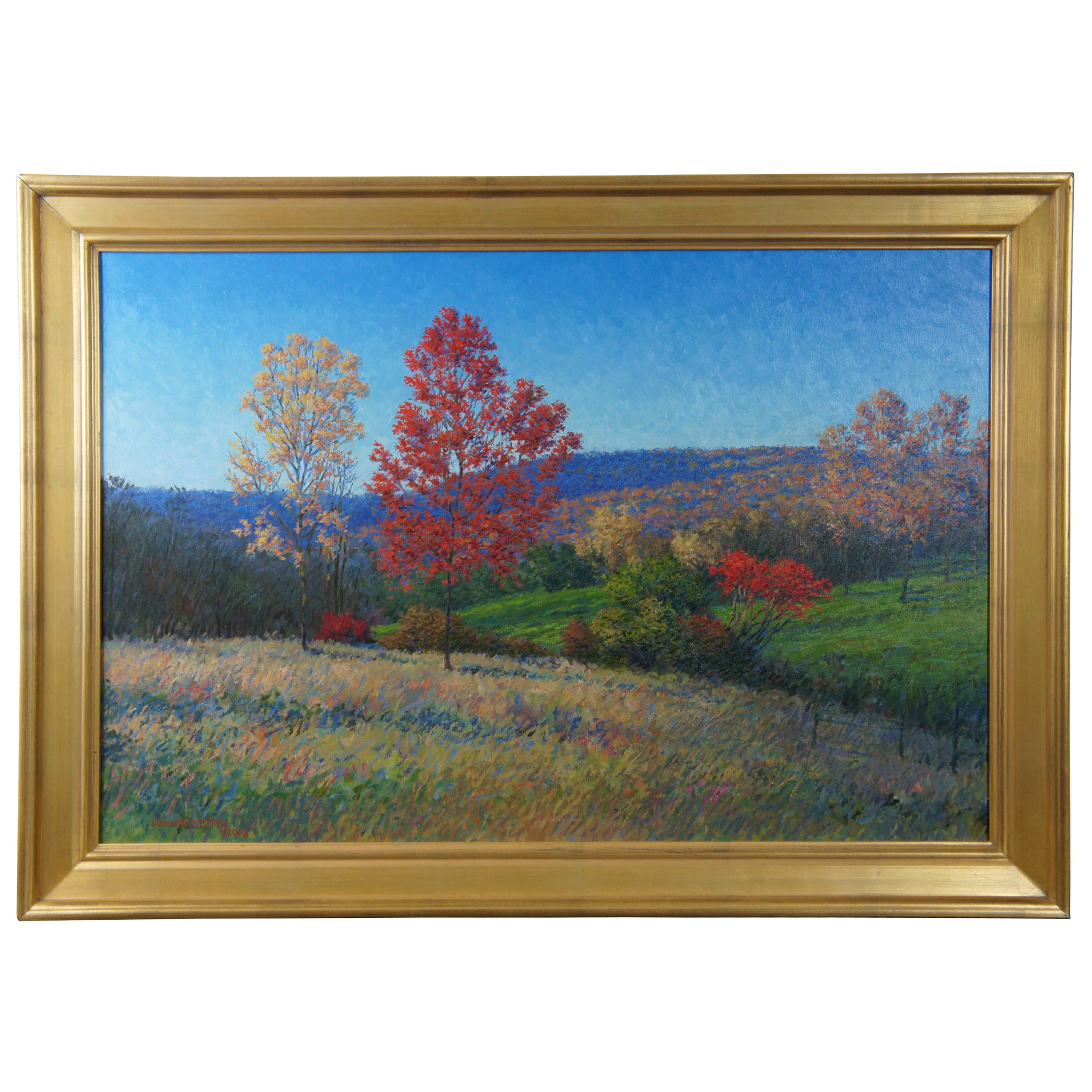 Nearing Bungletown Durwood Dommisse Landscape Oil on Canvas Painting