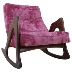 Adrian Pearsall Walnut Rocking Chair