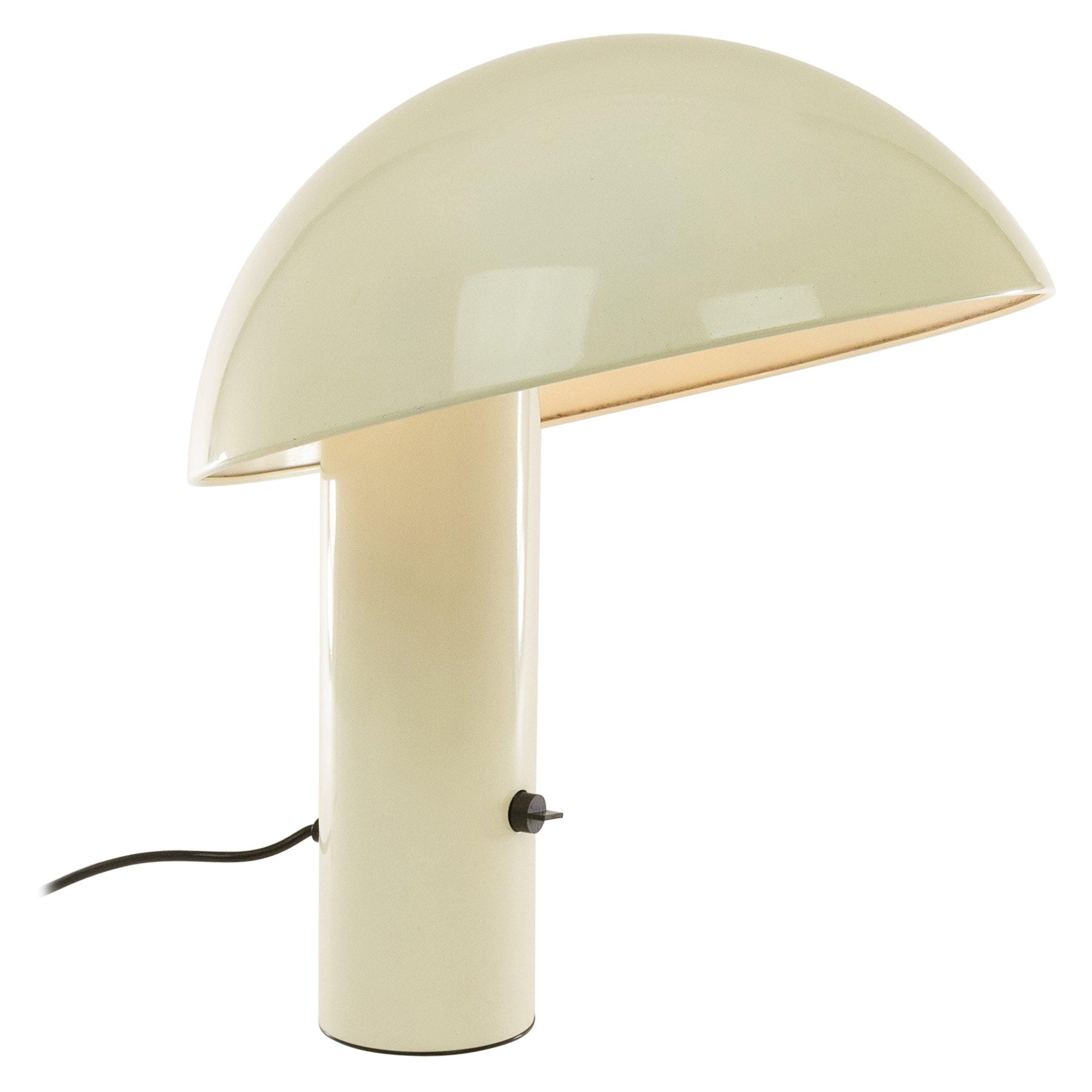 White Vaga Table Lamp by Franco Mirenzi for Valenti, 1970s