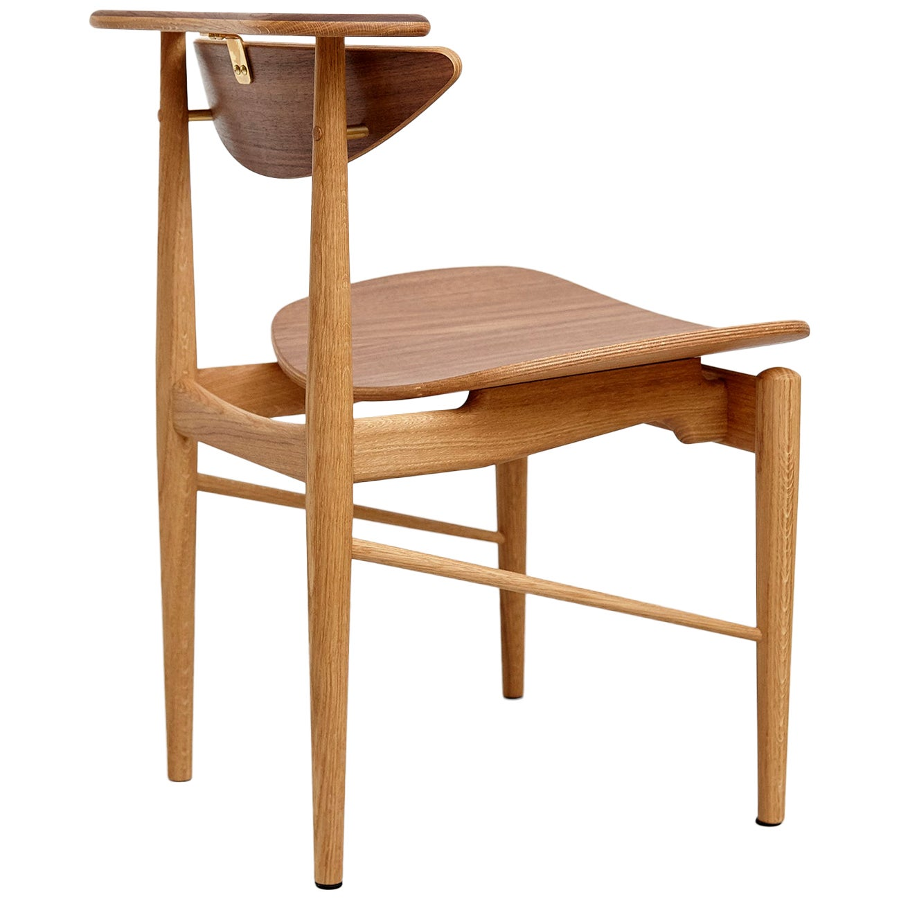 Finn Juhl Reading Chair Veneer Seat Wood