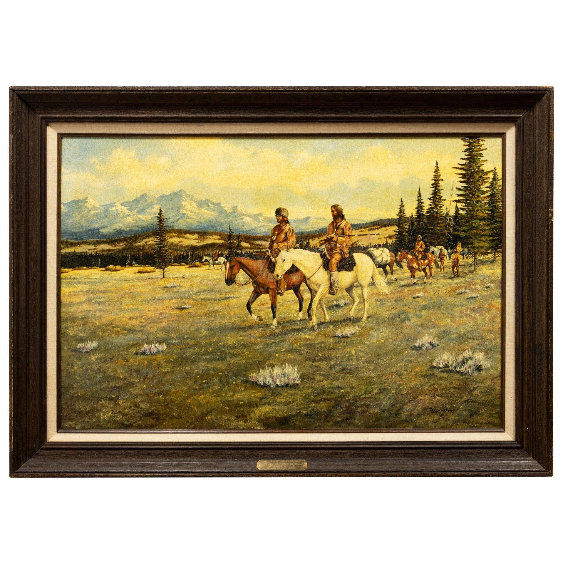 """Lewis and Clark"" Original Oil Painting by Floyd Drown"