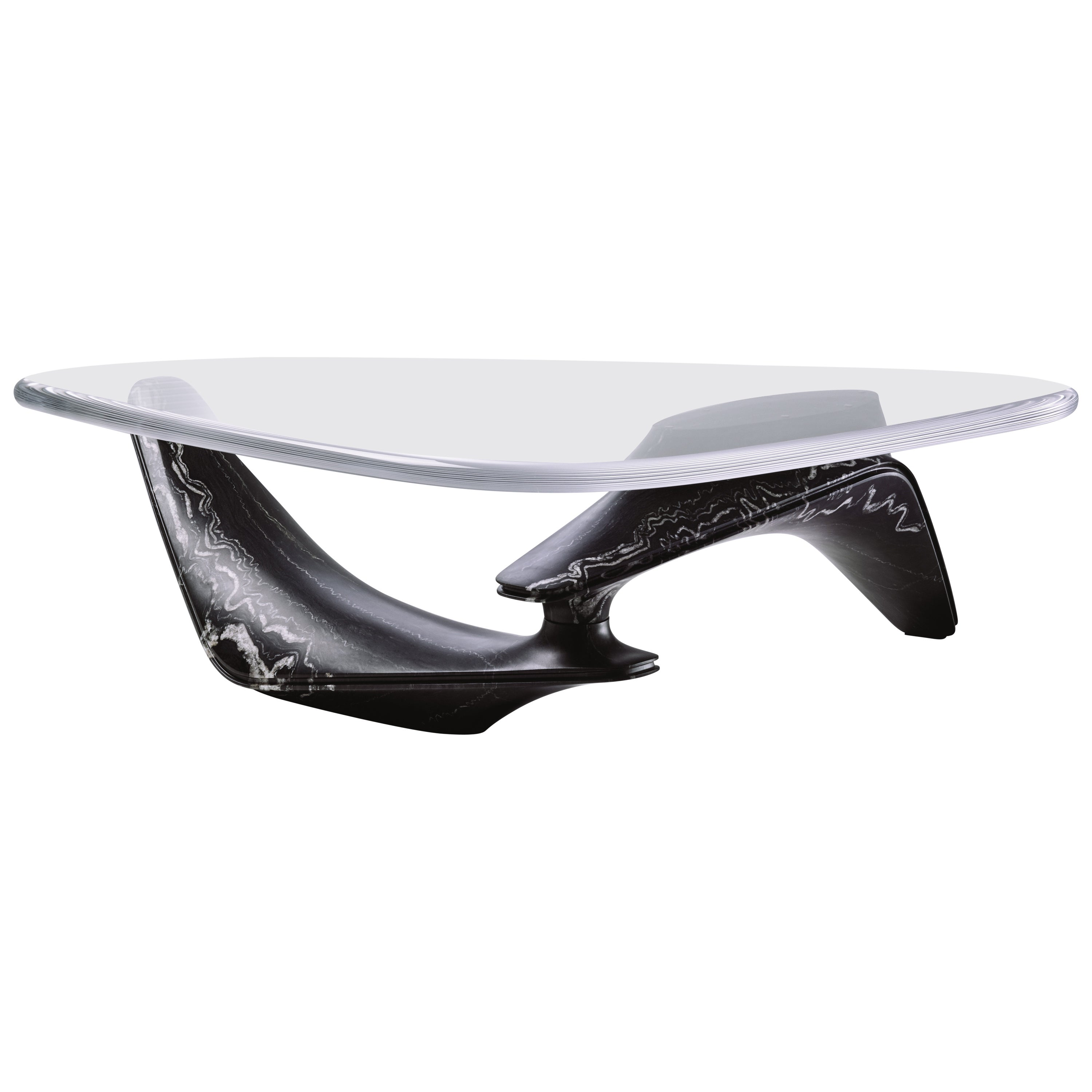 Marble Coffee Table in Marquina Nero Marble by Designer Ora Ito