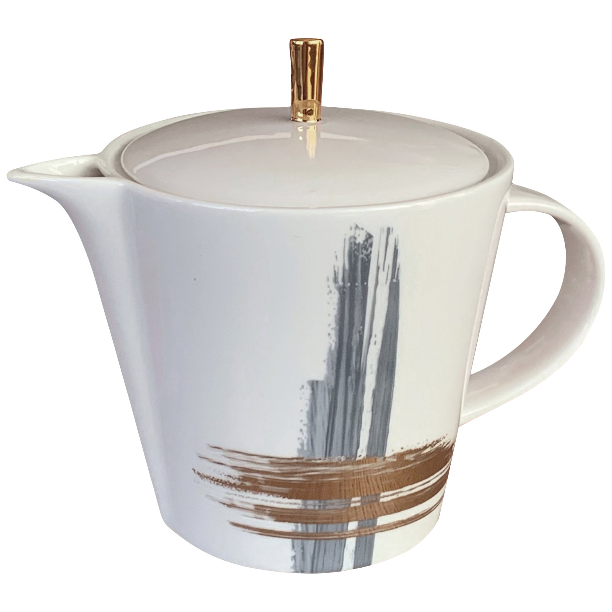 Large Tea Pot Artisan Brush André Fu Living Tableware New