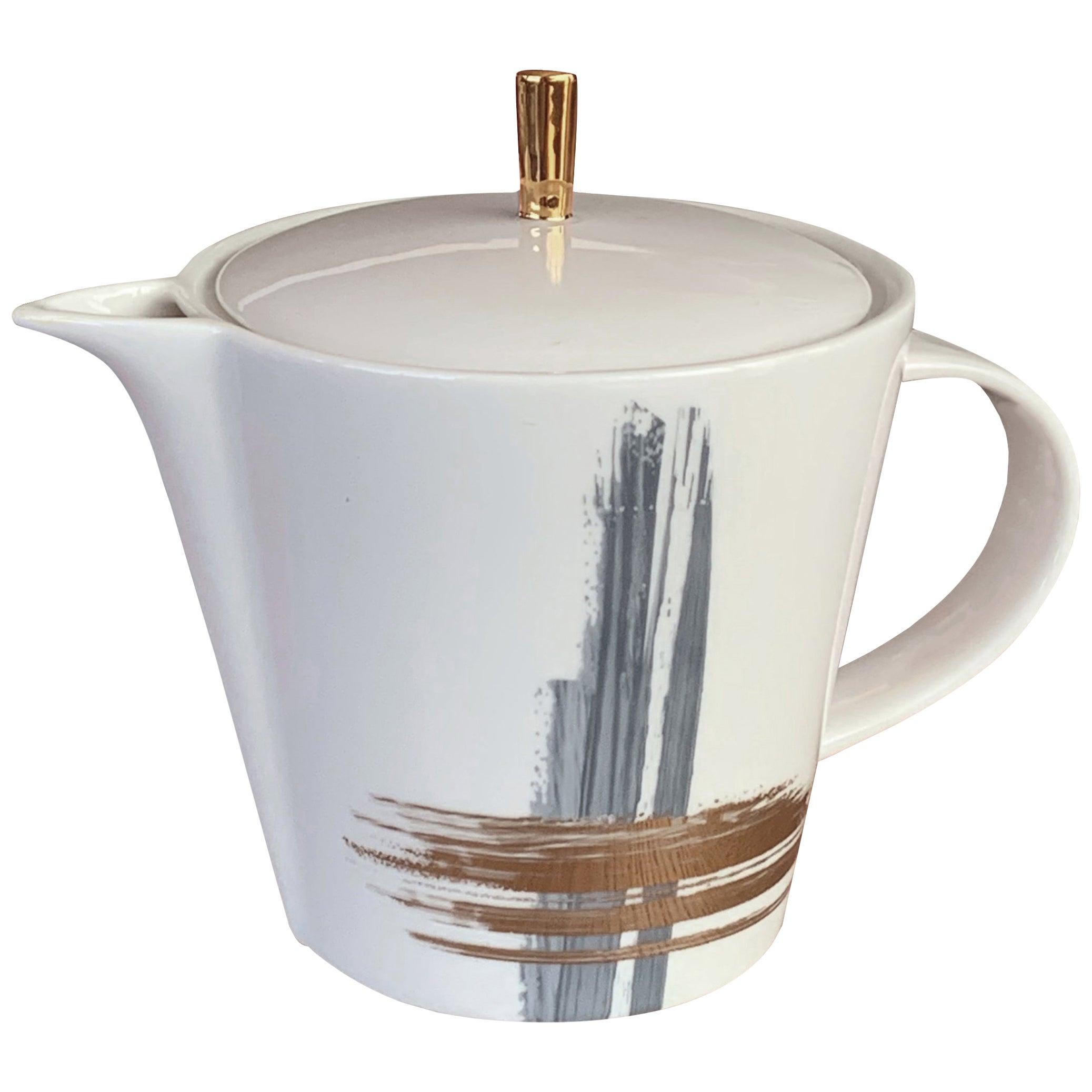 Medium Tea Pot Artisan Brush André Fu Living Tableware New