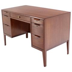 Mid-Century Modern Petit Compact Small Desk by Dunbar