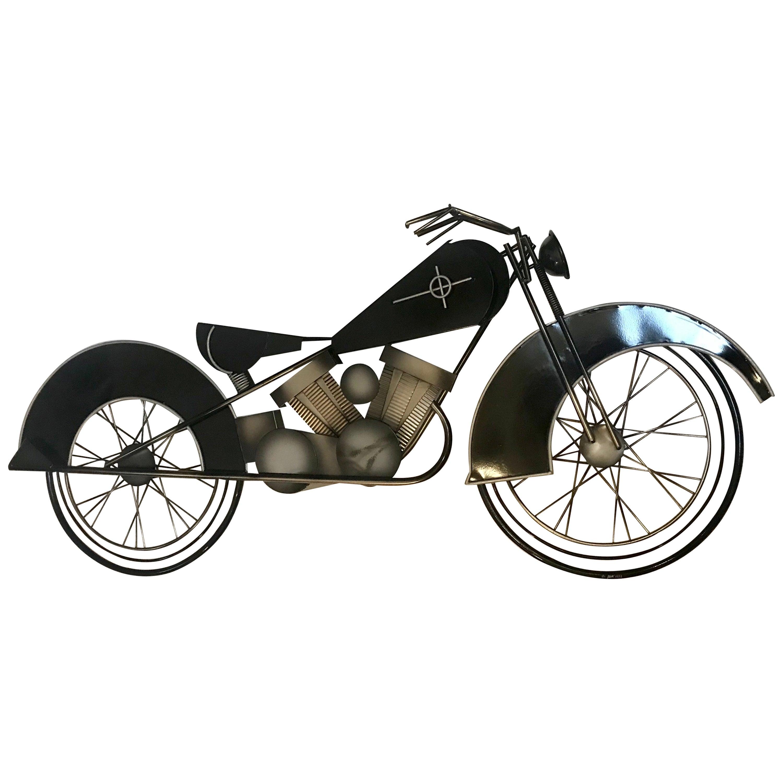 Curtis Jere Metal Motorcycle Wall Art Sculpture