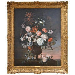 "Jean-Baptiste Monnoyer ""Bouquet of Flowers"" Painting"