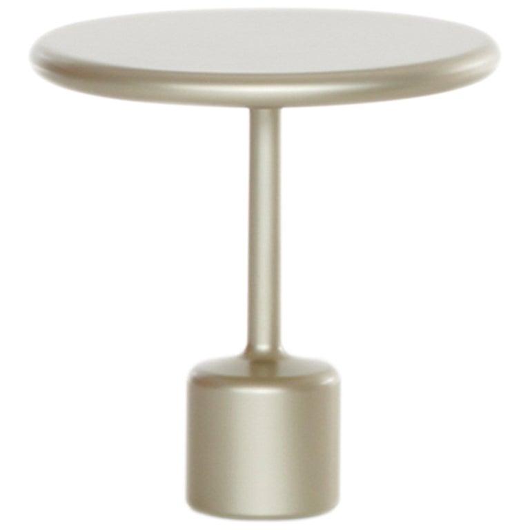 21th Century Maddalena Casadei Tavolotto Accessory Coffee Table Metal Champagne