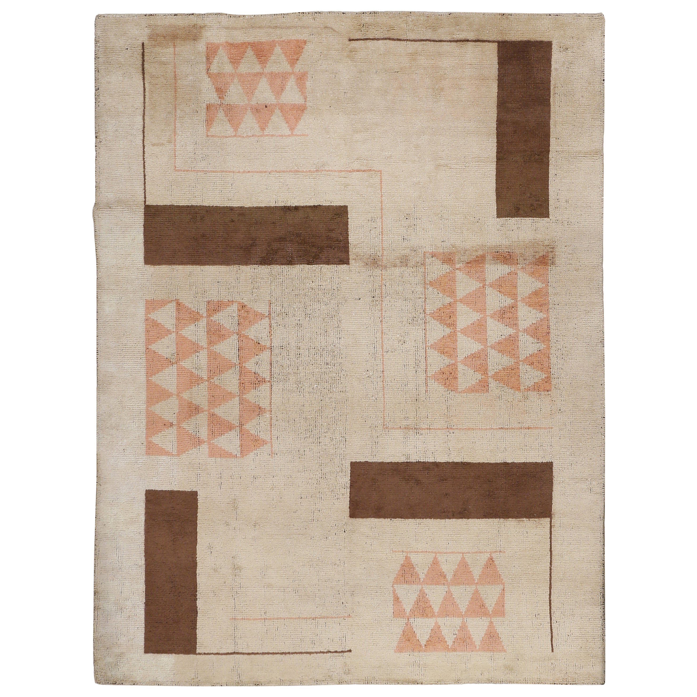 French Art Deco Rug Attributed to Ivan da Silva Bruhns