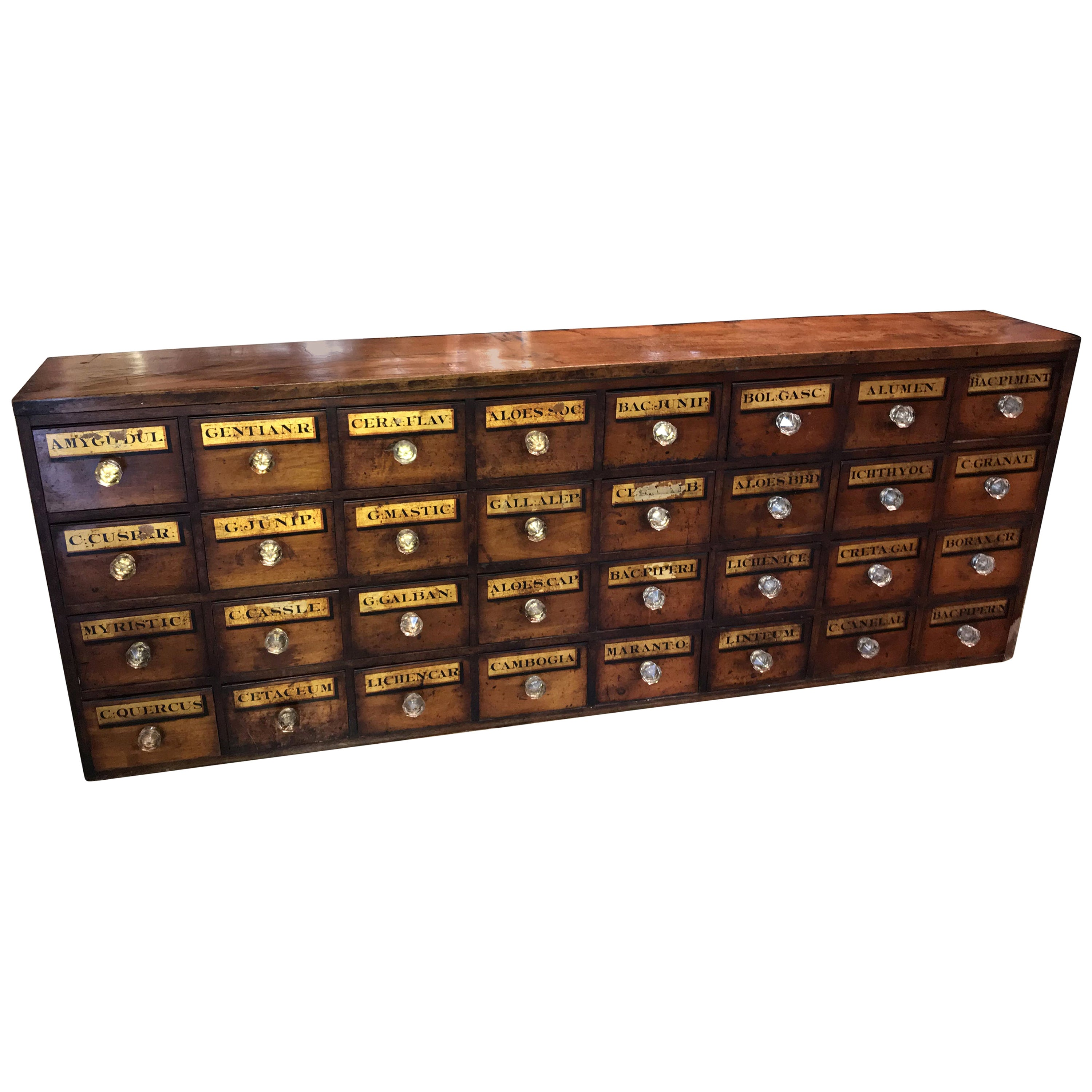 Late 19th Century Wooden 32-Drawer Chemist Apothecary Chest