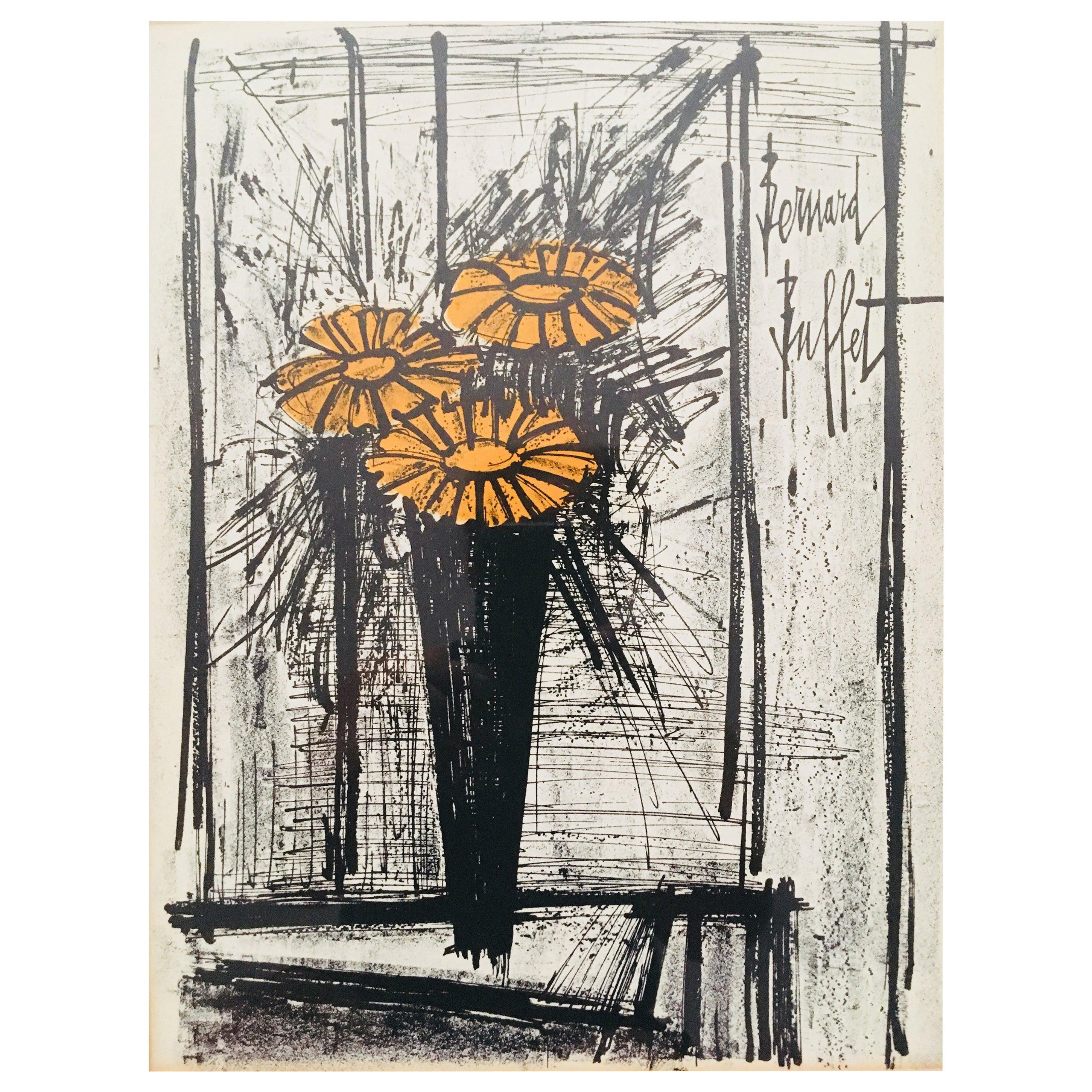 1968 Flower Arrangement Lithograph by Bernard Buffet
