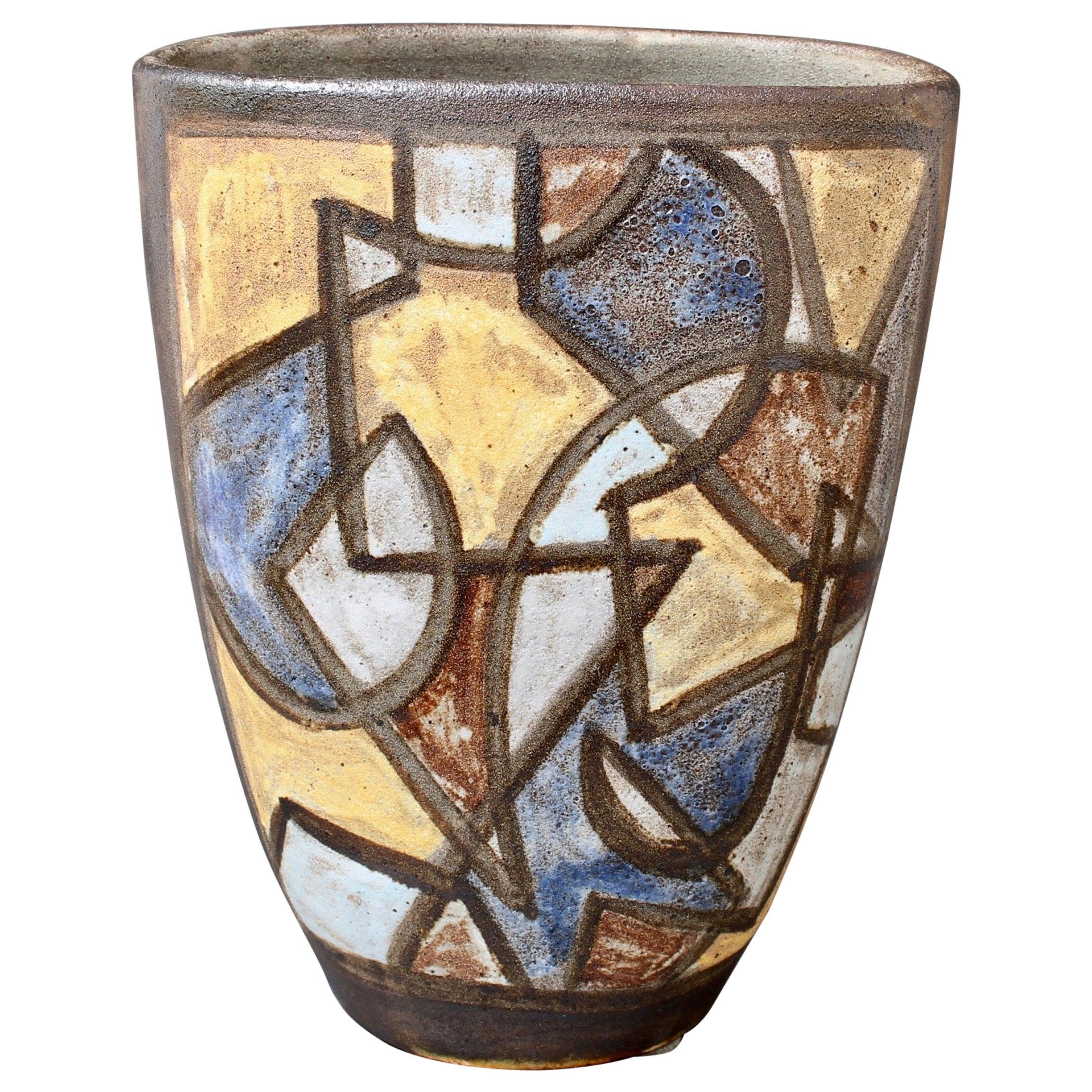 Ceramic Decorative Vase by Alexandre Kostanda, circa 1960s