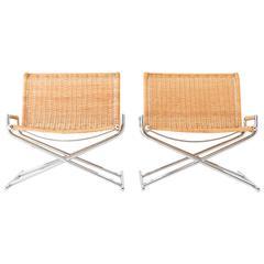 Ward Bennett Wicker Lounge Chairs for Brickell
